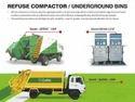Underground Bins With Refuse Compactor