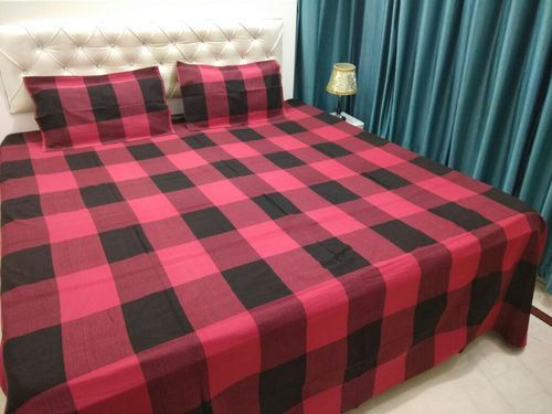 6237d42aa0 Check Pure Cotton 100% Cotton Casement Double Bed Sheet Set, Rs 410 ...