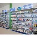 Medical Store Racks, Size: 3ft.