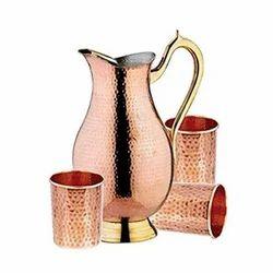 Pure Copper Jug Set