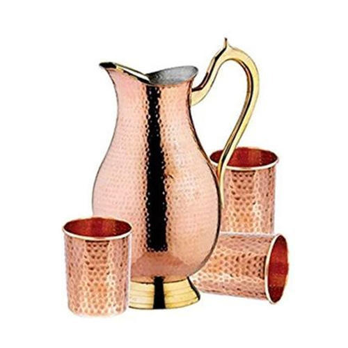 Pure Copper Jug Set