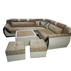 Modern Leather L Shape Chester Sofa Set