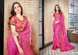 Rachna Georgette Simmie Catalog Saree Set For Woman