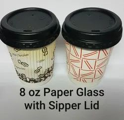Double Wall Paper Cup With Sipper Lid