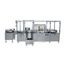 Automatic Vial Filling And Rubber Stoppering Machine