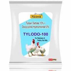 Tylodo- 100 (Tylosin Tartrate 10%   Doxycycline Hydrochloride10% For Veterinary Use Only)