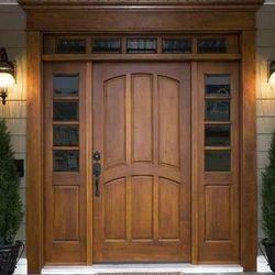 Rectangular Teak Wood Doors, Frame Material: Wooden, Size: Standard