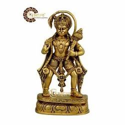 UR ASTRO Golden (Gold Plated) Brass Lord Hanuman Idol, Packaging Type: Box Packing, For Decor, Worship