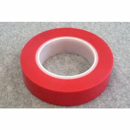 Double Sided Red Polyester Tape, for Sealing, Size: 1/2 inch