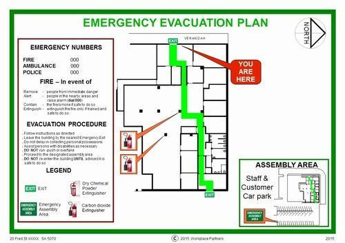 Safety Signages Evacuation Layout Map Manufacturer From