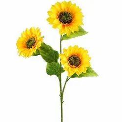 FOURWALLS Fabrics ARTIFICIAL 3 HD SUN FLOWER, Packaging Size: 90 Cm Tall