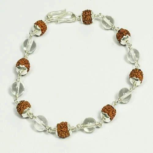 0bdecb4635d Rudraksha Bracelet - Rudraksha 5 Mukhi Silver Cap Bracelet ...