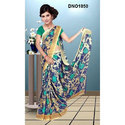 Casual Wear Printed Synthetic Saree, Length: 6.3 M