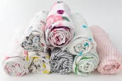 3 PCs Set Packed Organic Cotton Baby Wraps Swaddles