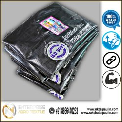 聚乙烯(HDPE)LDPE涂层黑色篷布,厚度:250gsm,尺寸:24 * 18