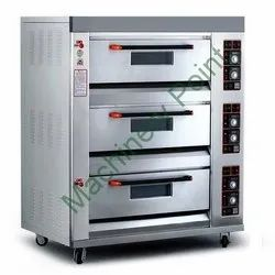 Three Deck Six Tray Luxury Gas Oven, Gas Deck Oven