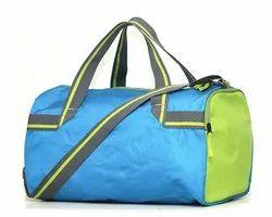 Polyester Blue Small Duffel Gym Bag