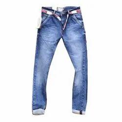 Regular Fit Casual Wear Mens Stretchable Denim Jeans, Waist Size: 30-36