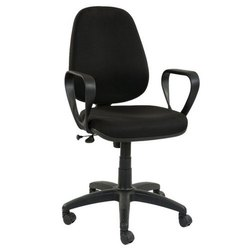 Black Leather Computer Revolving Chair For Office