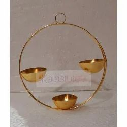 Golden Hanging Metal Candle Holders