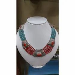 LE Coral & Turquoise Necklace, Size: 18-20