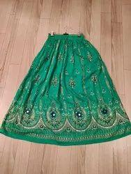Rayon Embroidered Skirts