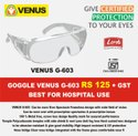 Safety Goggle Venus G-603 Myopia Can Be Worn Above Specs
