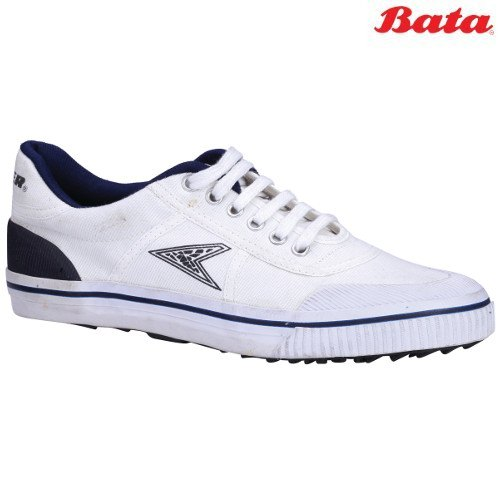 Bata Power Match White Lace Up School