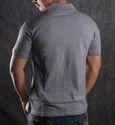 Mens Cotton Grey Polo T-Shirt