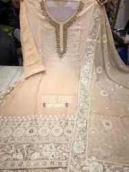 Silver Stitched AWC Lakhnavi Lehenga Dress