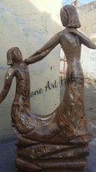 Couple Stone Statue