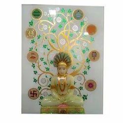 Rectangular Glass Buddha Printed Glass