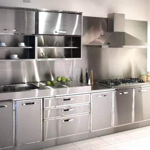 Silver Stainless Steel Kitchen Cabinet Al Ghausia Equipment