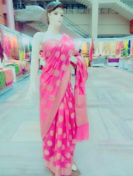 Party Wear Silk Cotton Banarasi Cotton Sarees