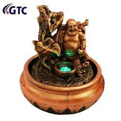 Laughing Buddha Water Fountain for Home Decorative (ITN-9605)