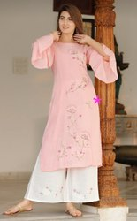 rayon kurti with plazo