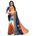 Latest Georgette Saree With Lace