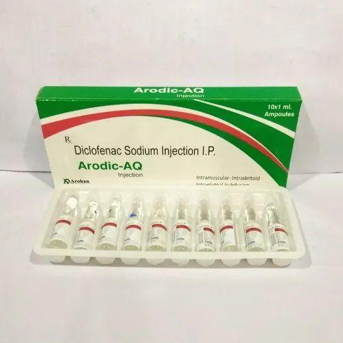 Pharmaceutical Injection Diclofenac Sodium 75mg 1ml Aq Painless Formula Manufacturer From Panchkula