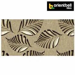 Orientbell Tiles Orientbell ODH BATIK LEAF HL Matte Digital Wall Tiles, Size: 300x600 mm