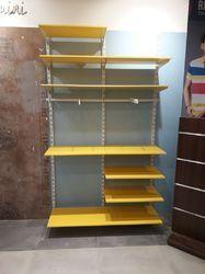 Wall mount wooden top display rackk