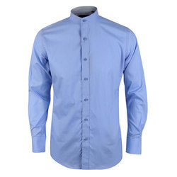 907bf4d47 Full Sleeves Formal Wear Mens Plain Chinese Collar Shirt, Rs 300 ...