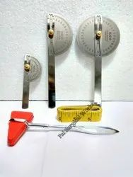 Set of Goniometer, Hammer & Measuring Tape
