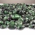 Natural Ruby Zoisite Gemstones Tumbles