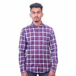 Dione Martin Mens Casual Full Sleeve Checked Shirt, Packaging Type: Packet/Box