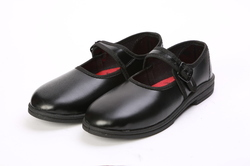Girls Black Formal School Shoes
