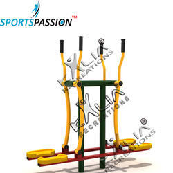 Outdoor Gym Equipment Double Air Skier Elliptical Exerciser