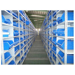 Steel Blue Slotted Angle Racking, For Industrial