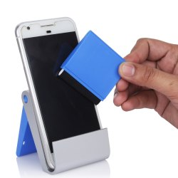 Plastic Folding Mobile Stand With Detachable Screen Cleaner