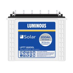 Luminous 200Ah Solar Tall Tubular Battery, Model Name/Number: Lptt 12200l, Capacity: 200 Ah