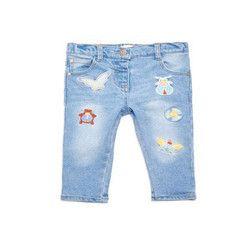 Denim Casual Wear Kids Stylish Capri